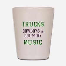 Trucks Cowboys Country Music Shot Glass