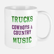Trucks Cowboys Country Music Mug