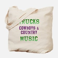 Trucks Cowboys Country Music Tote Bag