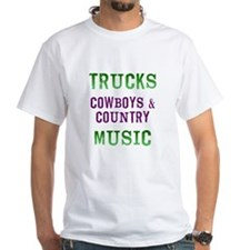 Trucks Cowboys Country Music T-Shirt