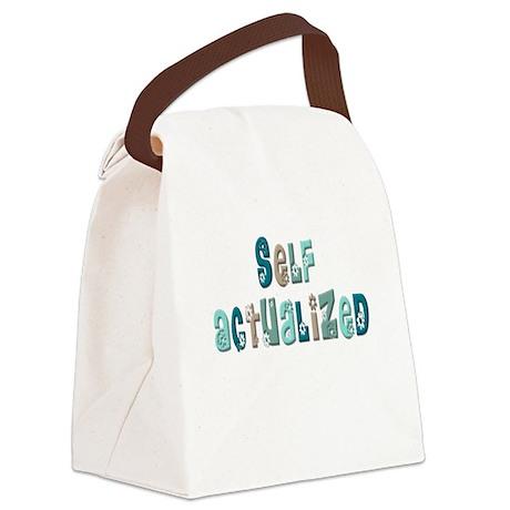 SelfActualizedFloral2.psd Canvas Lunch Bag