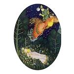 Russian Firebird Fairytale Oval Ornament