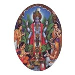 Vishnu Oval Ornament