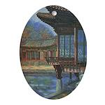 Japanese Arbor Oval Ornament