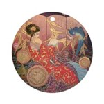 Asian Beauty Ornament (Round)