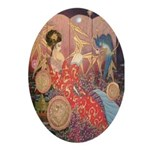 Asian Beauty Oval Ornament
