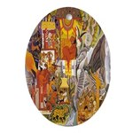 Mayan Oval Ornament