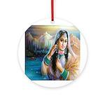 Kashmiri Bride Ornament (Round)