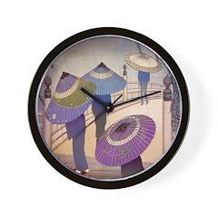 Rain Blossoms Wall Clock