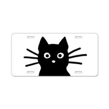 Cute Cat Aluminum License Plate