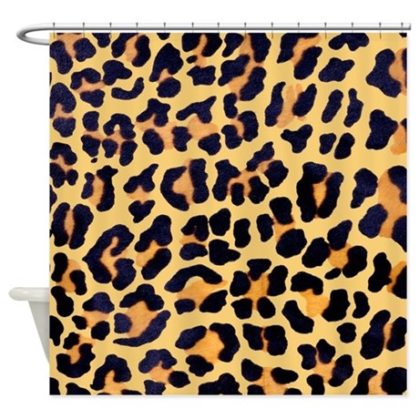 Beautiful Cheetah Print Shower Curtain