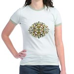 Indian Floral Jr. Ringer T-Shirt