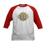 Indian Floral Kids Baseball Jersey