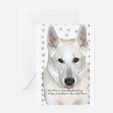 White German Shepherd Dog - A Greeting Cards (Pack