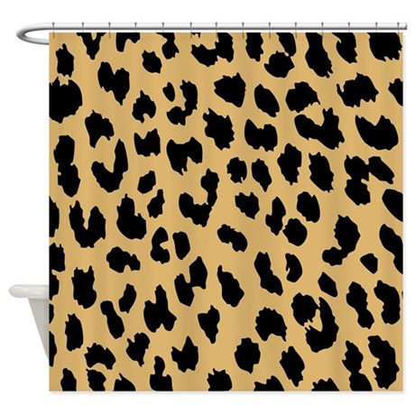 leopard print shower curtain by be inspired by life