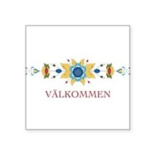 Scandinavian Floral Border Sticker