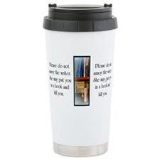 Cute Writer Stainless Steel Travel Mug