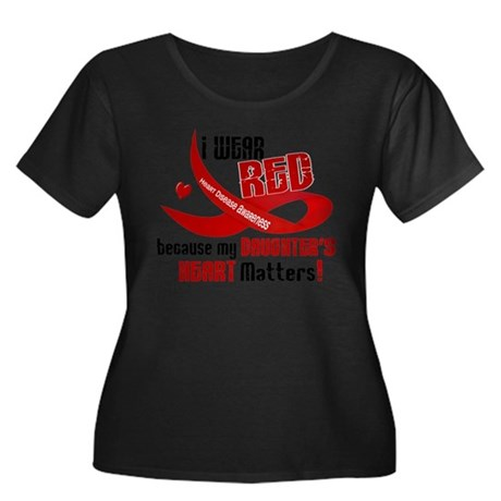Red For My Daughter Heart Disease Shirt Plus Size