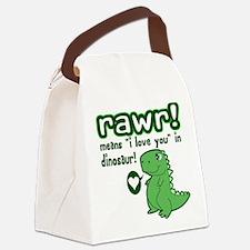 Cute! RAWR Means Love Canvas Lunch Bag