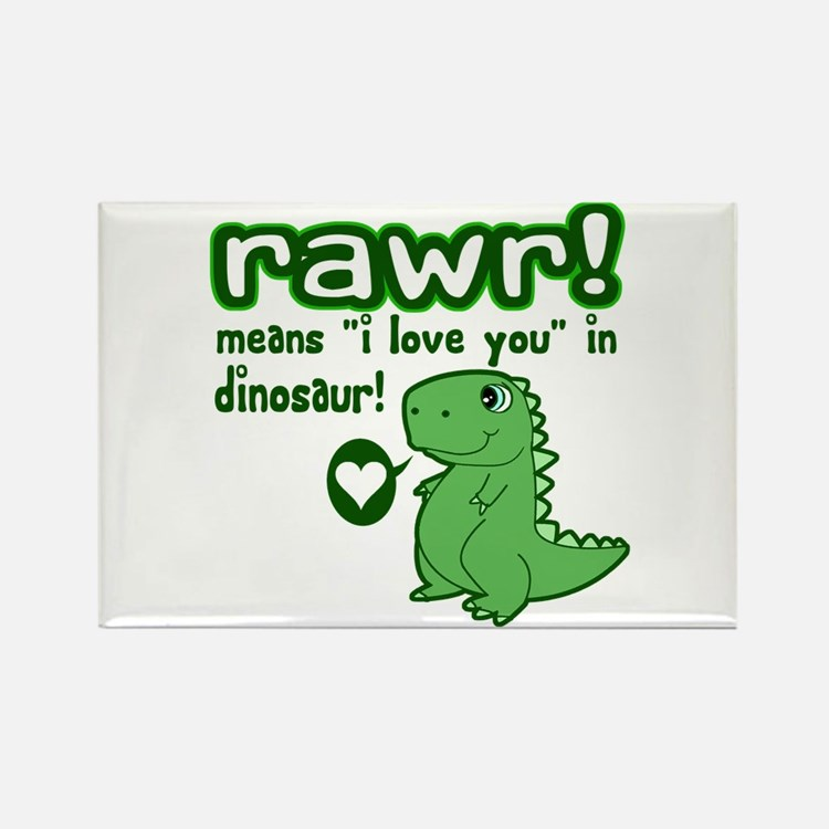 Cute! RAWR Means Love Rectangle Magnet