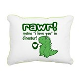 Dinosaur Rectangle Canvas Pillows