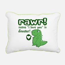 Cute! RAWR Means Love Rectangular Canvas Pillow