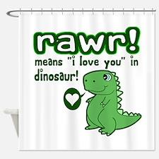Cute! RAWR Means Love Shower Curtain