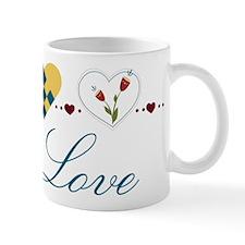 Scandinavian Hearts Mug