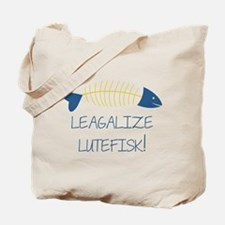 Legalize Lutefisk Fish Tote Bag