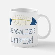 Legalize Lutefisk Fish Mug