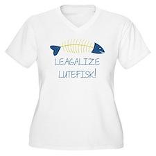 Legalize Lutefisk Fish Plus Size T-Shirt
