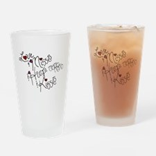 Love & Misses & Hugs & Kisses Drinking Glass