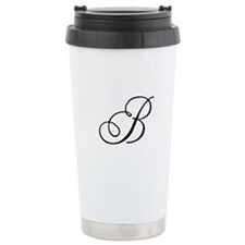 Champagne Monogram B Travel Mug