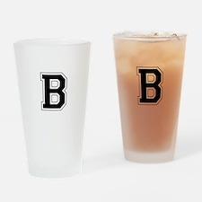 Collegiate Monogram B Drinking Glass