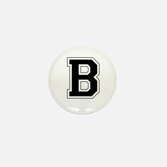 Collegiate Monogram B Mini Button
