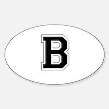 Collegiate Monogram B Decal