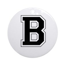 Collegiate Monogram B Ornament (Round)