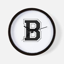 Collegiate Monogram B Wall Clock