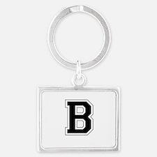 Collegiate Monogram B Landscape Keychain