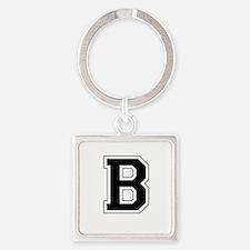 Collegiate Monogram B Square Keychain