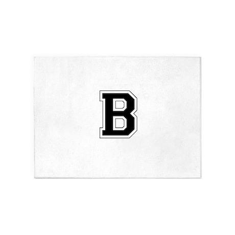 Collegiate Monogram B 5'x7'Area Rug