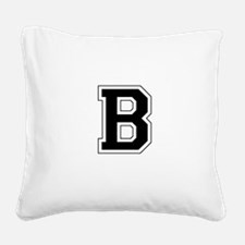 Collegiate Monogram B Square Canvas Pillow