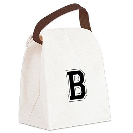 Collegiate Monogram B Canvas Lunch Bag