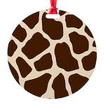 Giraffe Print Round Ornament