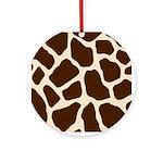 Giraffe Print Ornament (Round)
