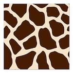 Giraffe Print Square Car Magnet 3