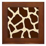 Giraffe Print Framed Tile