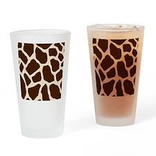Giraffe Print Drinking Glass