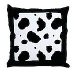 Cow Print Throw Pillow