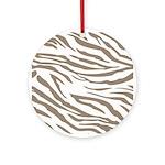 Cocoa Zebra Print Ornament (Round)